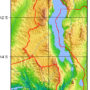 Malawi – topographique