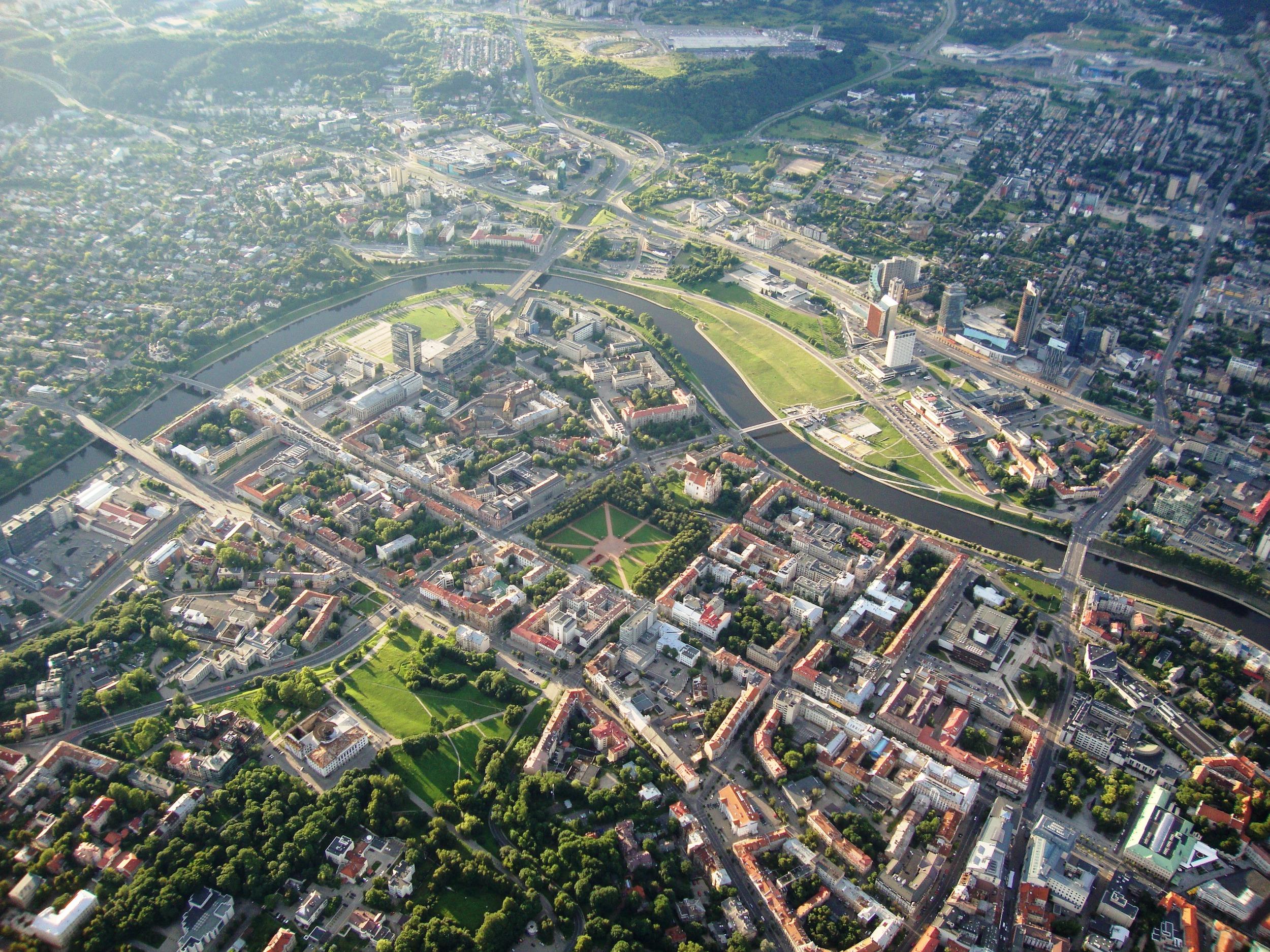Vilnius vue du ciel, Lituanie