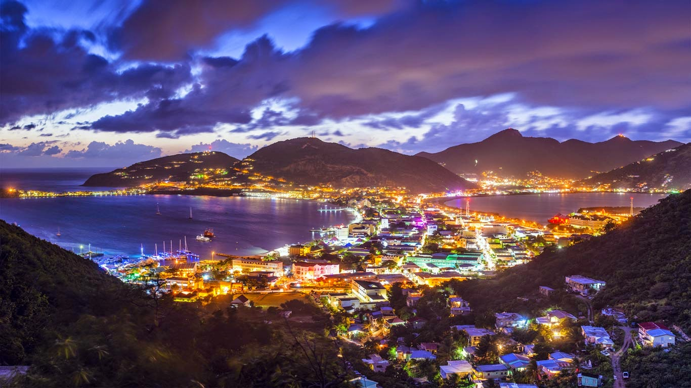 Philipsburg, capitale de Saint-Martin (Sint Maarten)