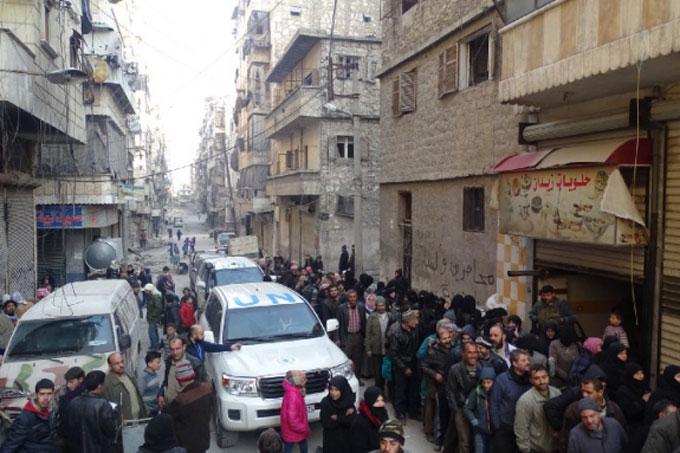 Déplacés à Alep, Syrie