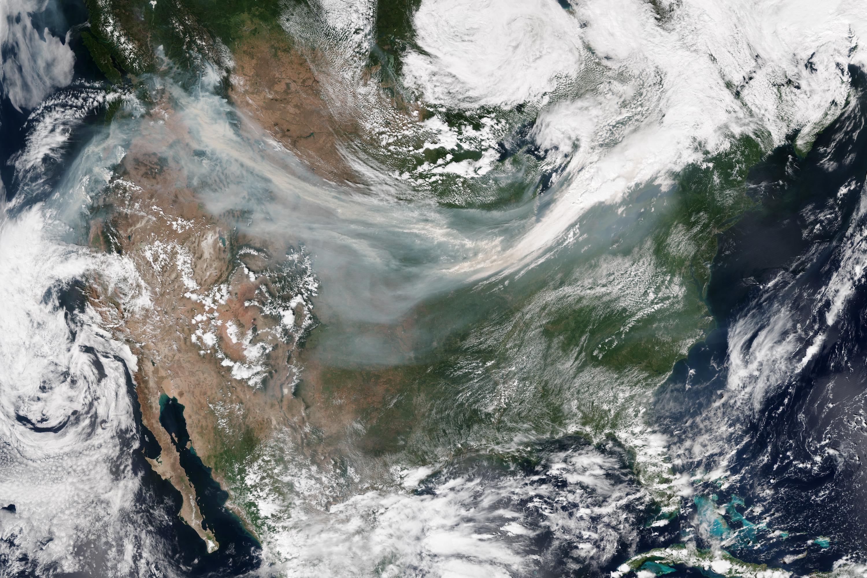 Canada - États-Unis : fumée des feux de forêts