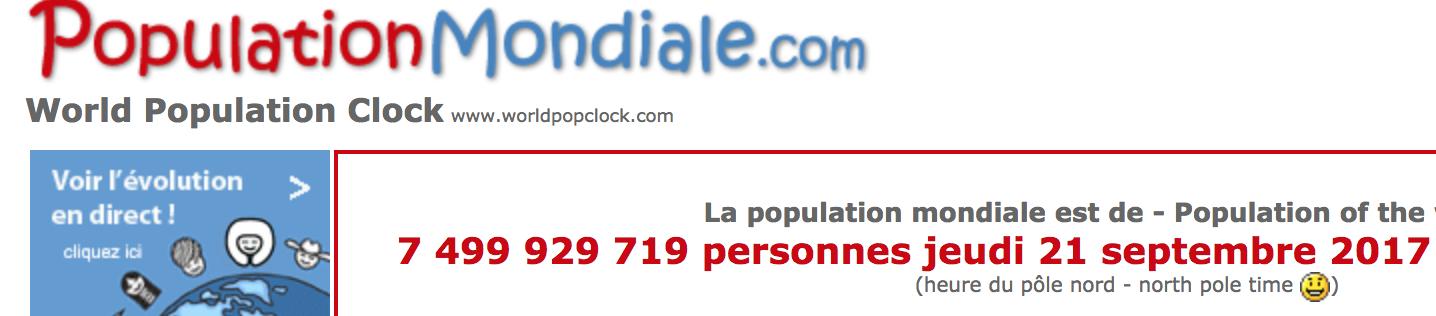 Population Mondiale : 7,5 milliards d'humains sur Terre