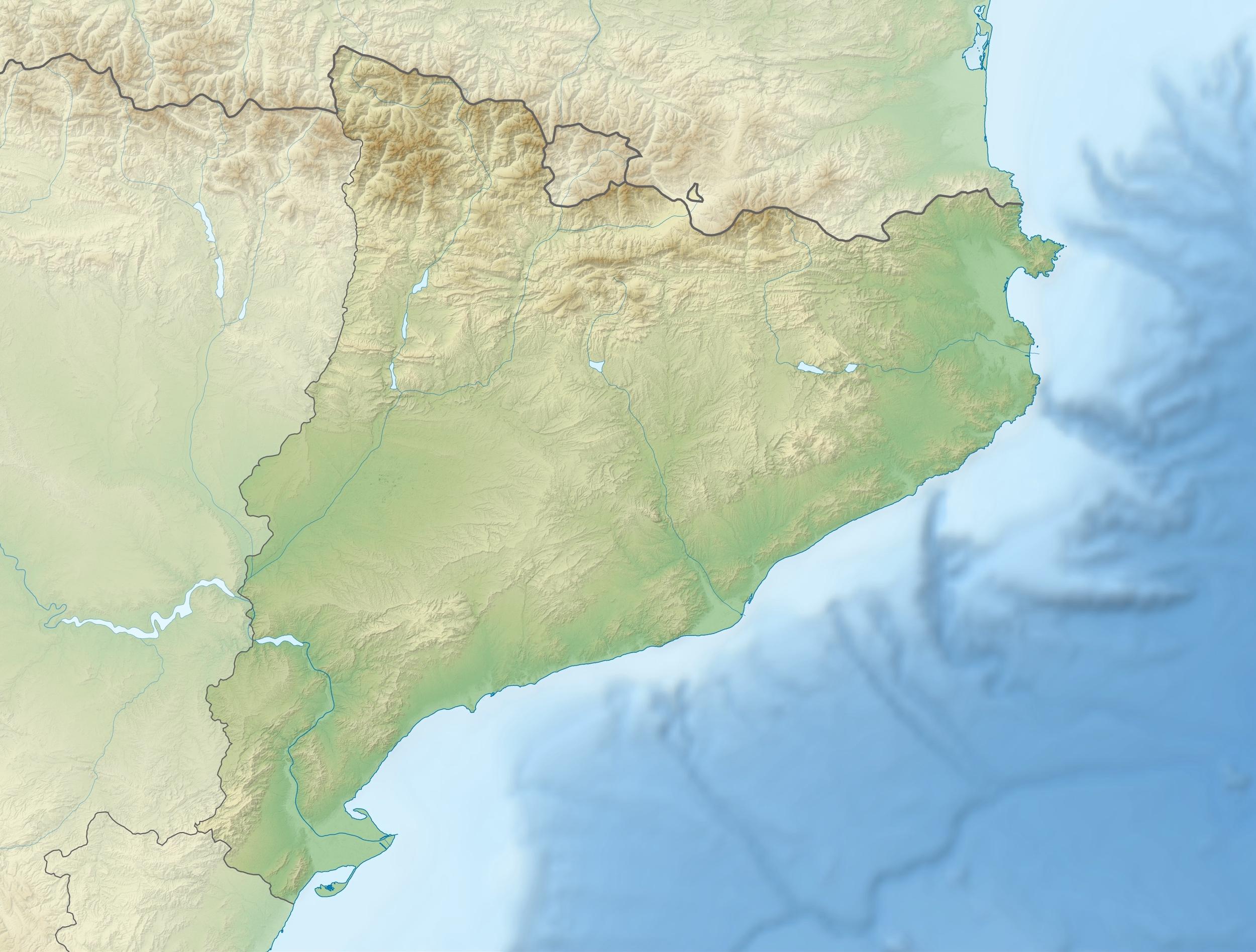 Carte Espagne Topographique.Espagne Catalogne Topographique Carte Populationdata Net