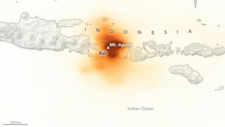 Éruption du Mont Agung à Bali, Indonésie