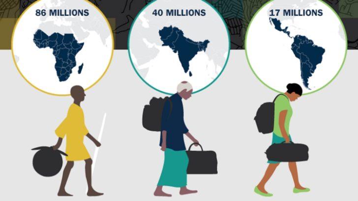 143 millions de migrants climatiques internes d'ici 2050