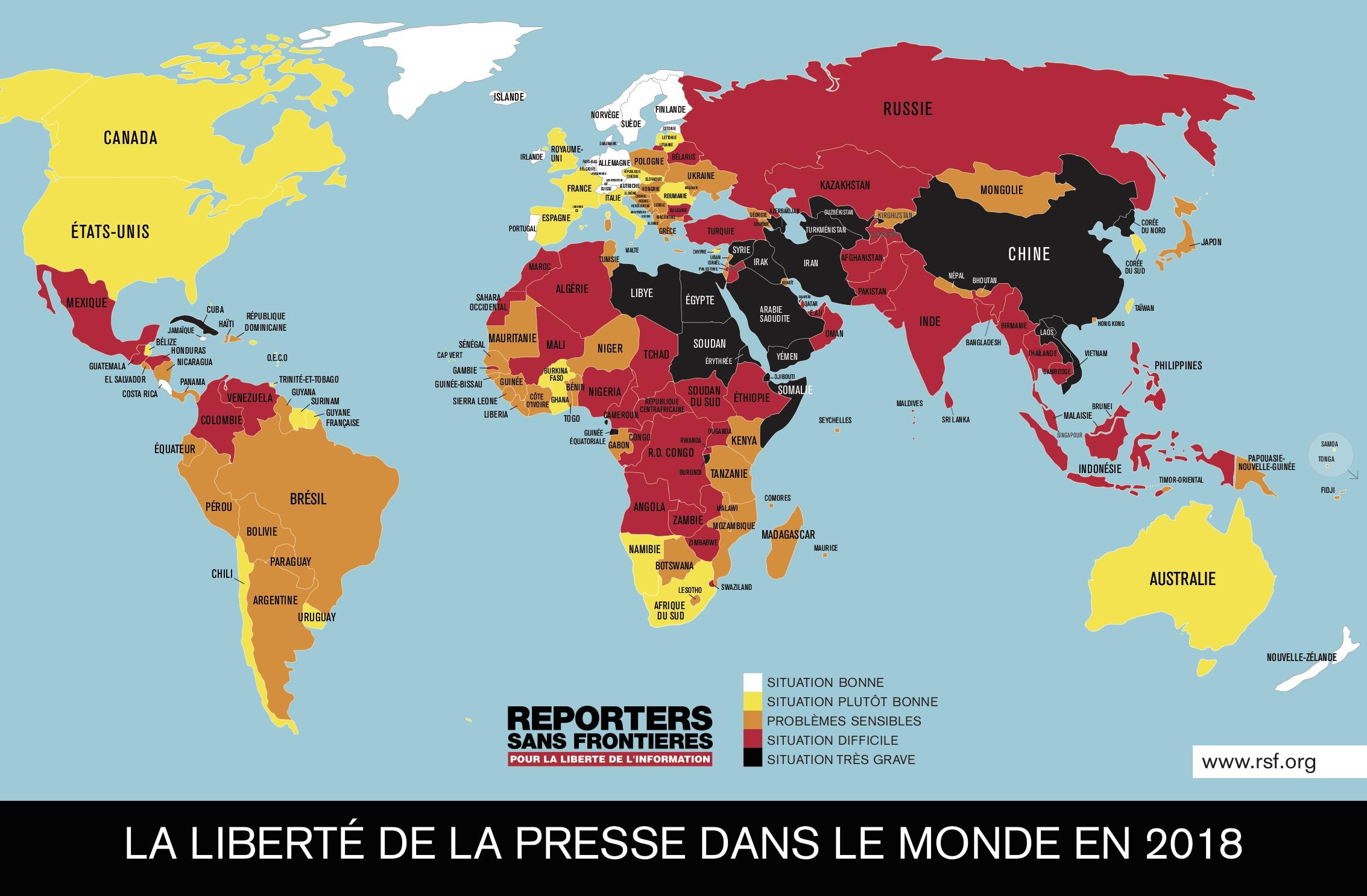 Monde - Liberté de la presse (2018)