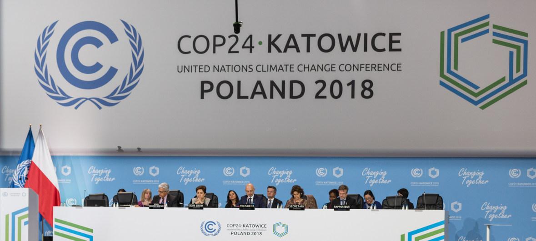 Séance d'ouverture des travaux de la COP24 sur le climat, à Katowice, Pologne