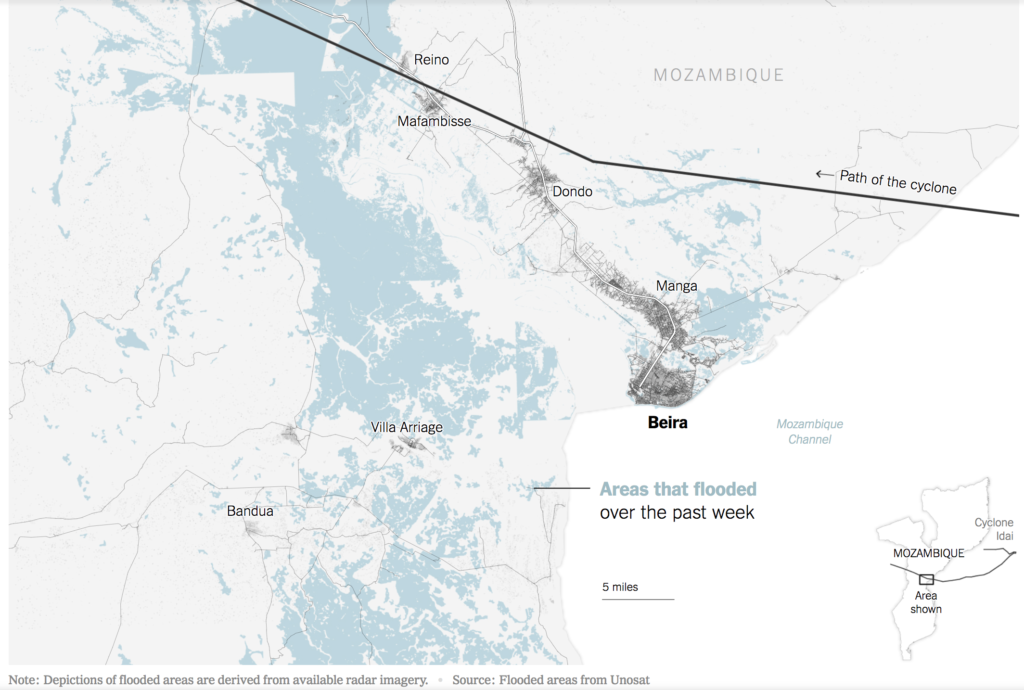 Inondations catastrophiques à Beira, Mozambique