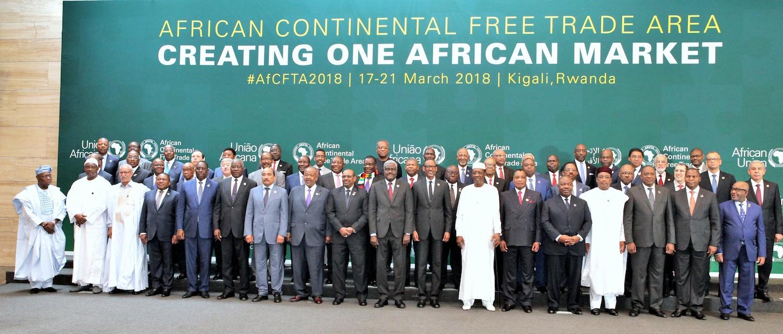 Afrique - signature de la ZLEC, Kigali, mars 2018