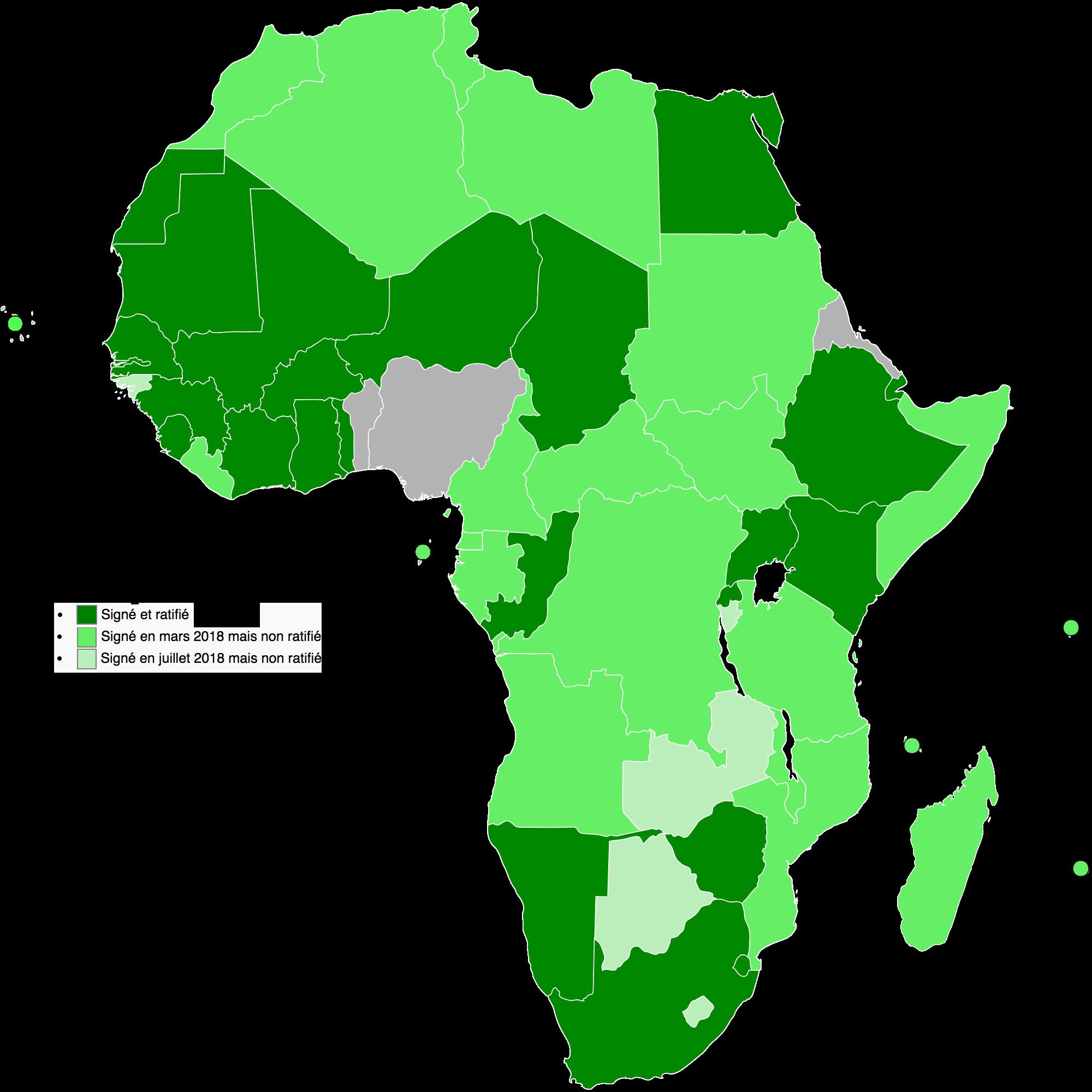 Afrique - Zone de libre-échange continentale (ZLEC)