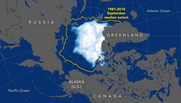 La banquise arctique est la deuxième plus faible en 2019