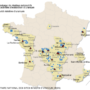France – mines d'uranium et sites de stockage