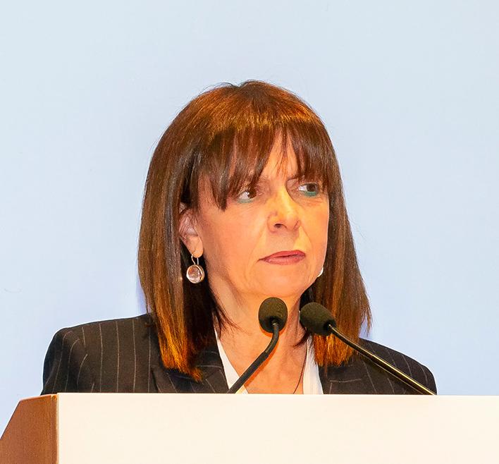 Ekateríni Sakellaropoúlou, présidente de la Grèce