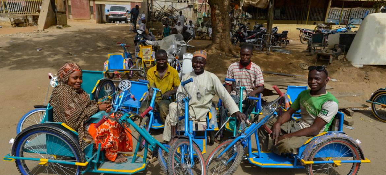 Afrique - survivants de la polio