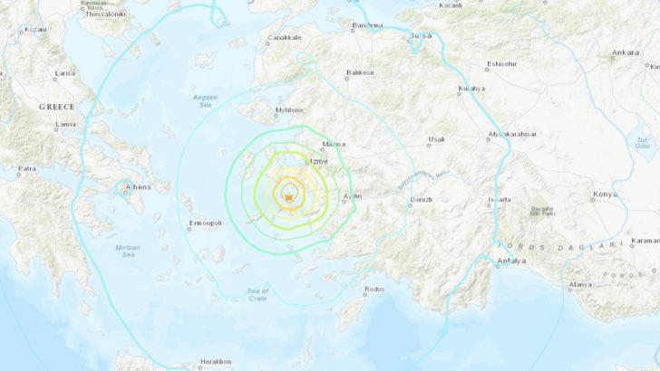 Séisme de magnitude 7.0 entre la Grèce et la Turquie