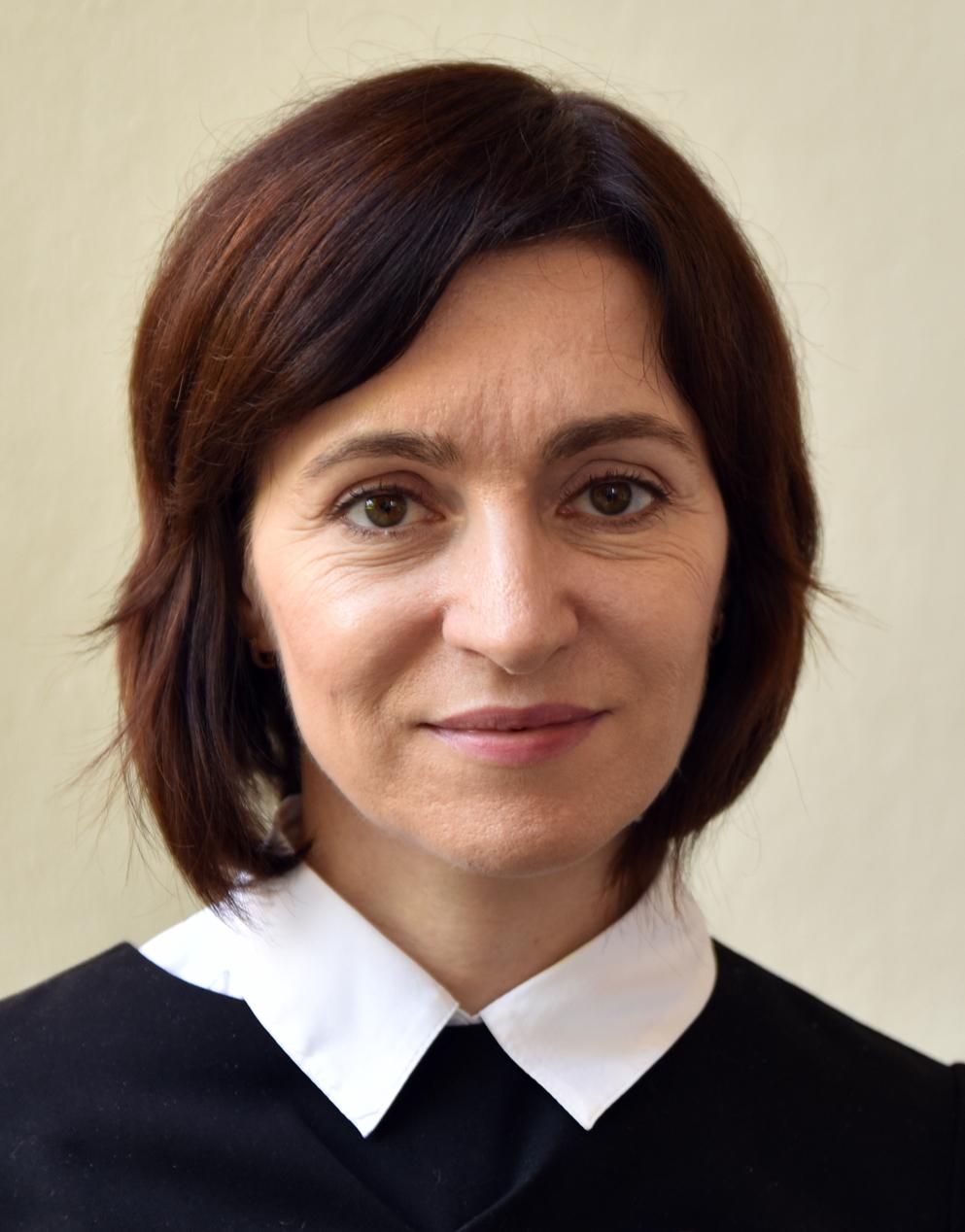 Maia Sandu, présidente de la Moldavie
