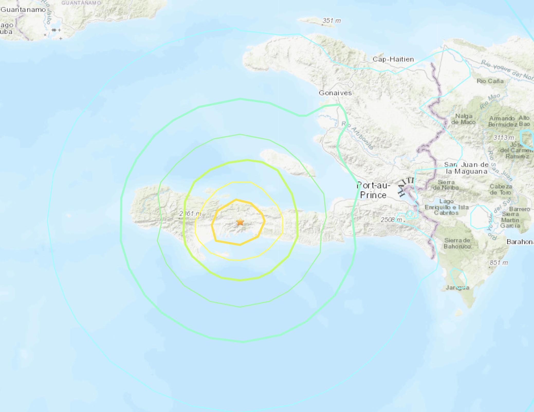 Séisme de magnitude 7.2 en Haïti