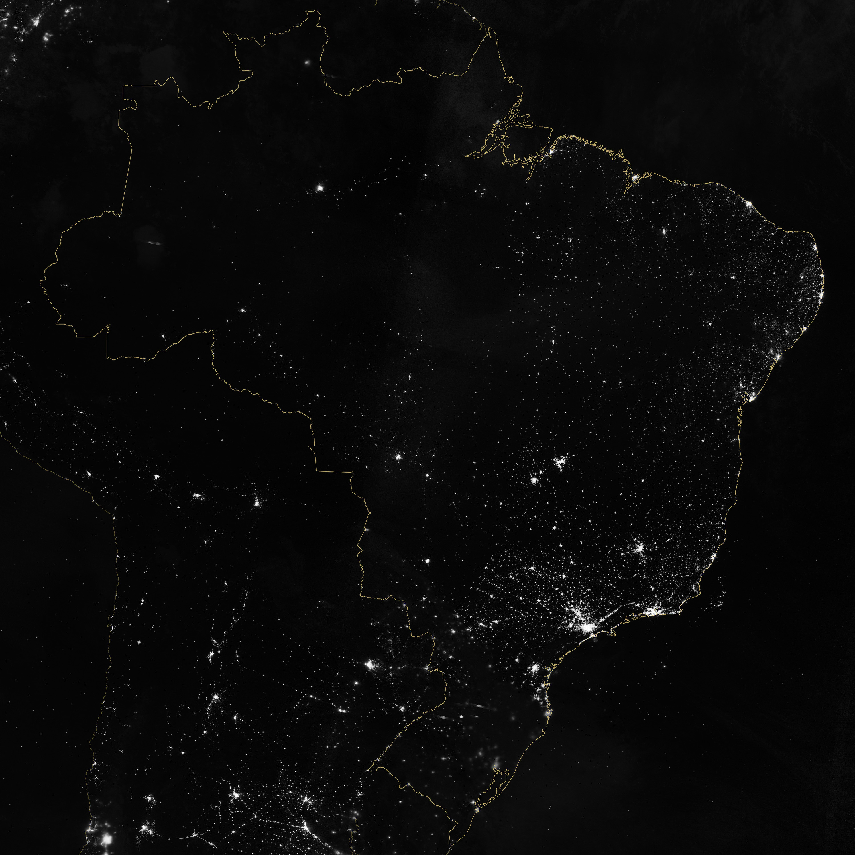 Brésil - lumières de la nuit