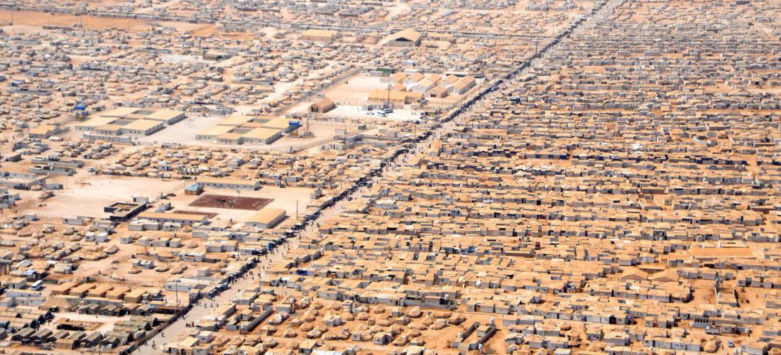 Camp de réfugiés syriens à Za'atri, Jordanie