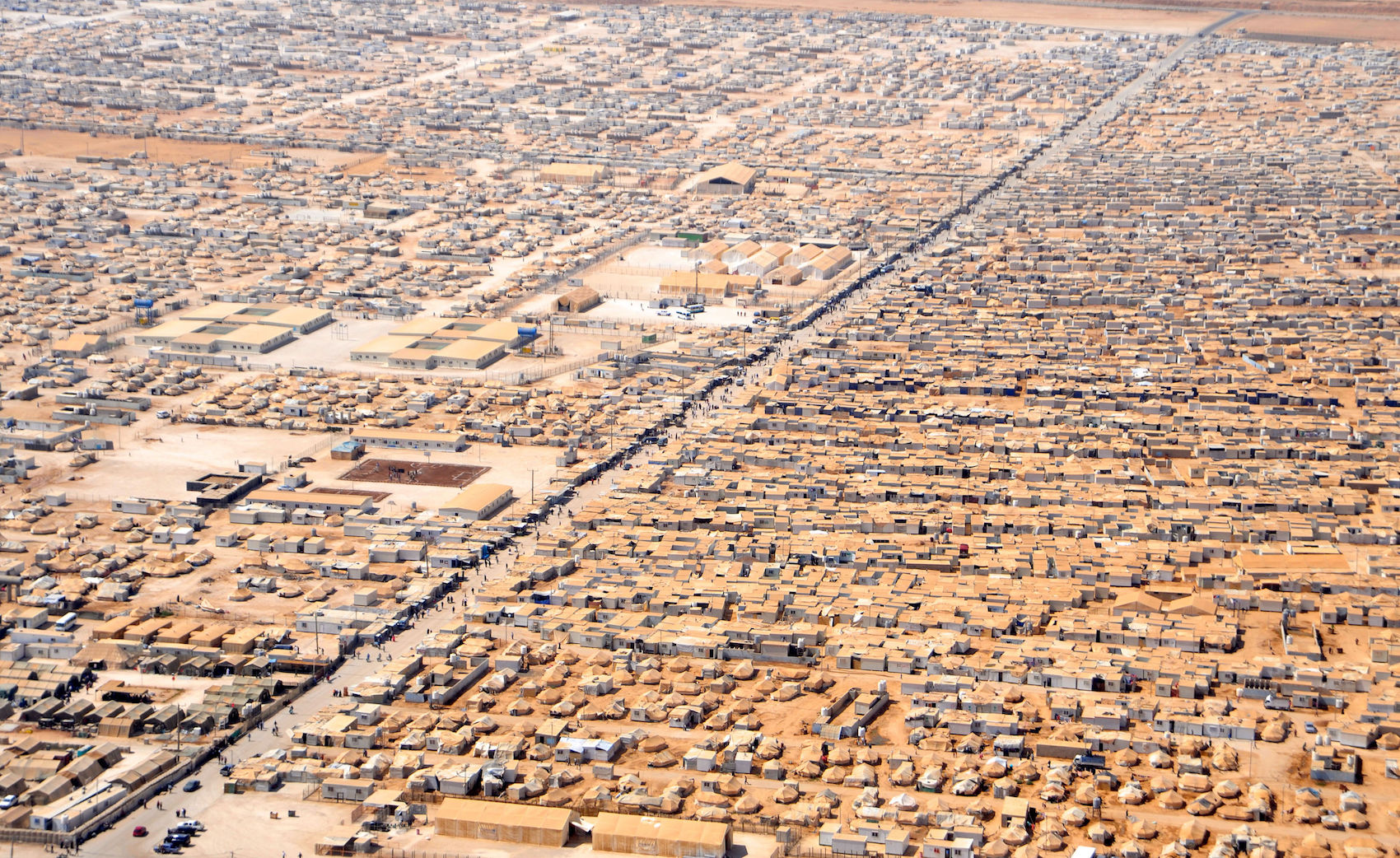 Camp de réfugiés syriens à Zaatari, Jordanie