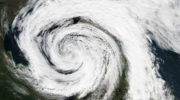 Un cyclone extratropical dans le grand nord du Canada
