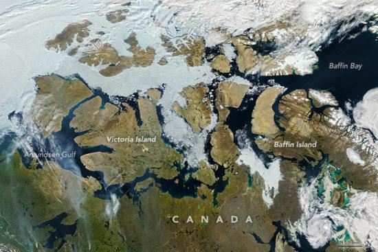 Canada - glaces dans le passage du nord-ouest (août 2013)