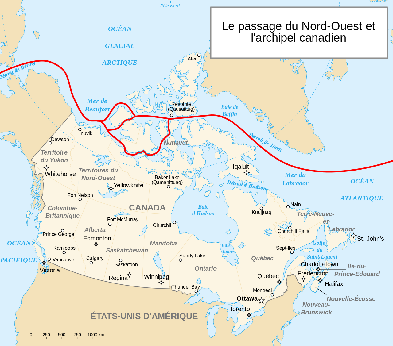 Carte Canada Nord Ouest.Canada Passage Du Nord Ouest Carte Populationdata Net