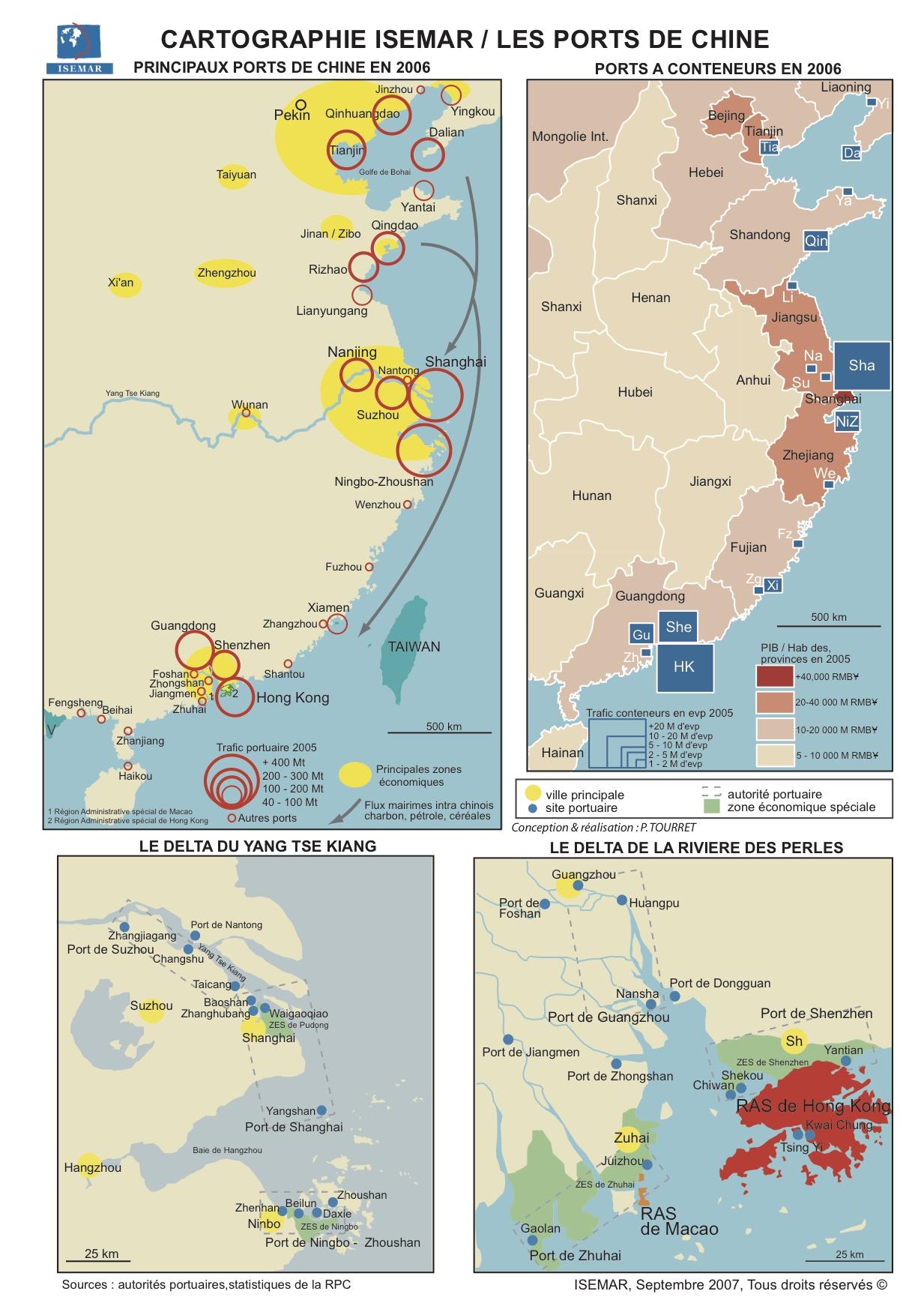 Chine grands ports carte - Plus grands ports du monde ...