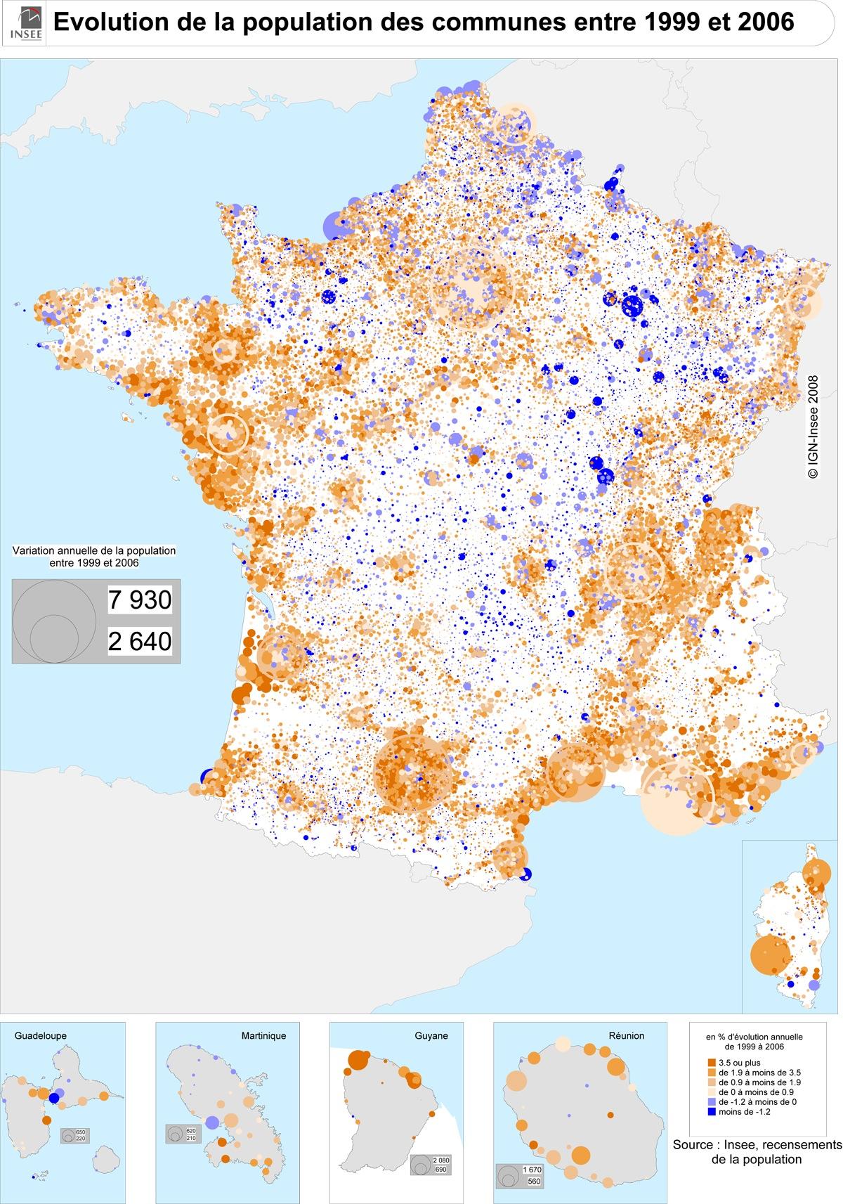 Evolution Population France France évolution de la