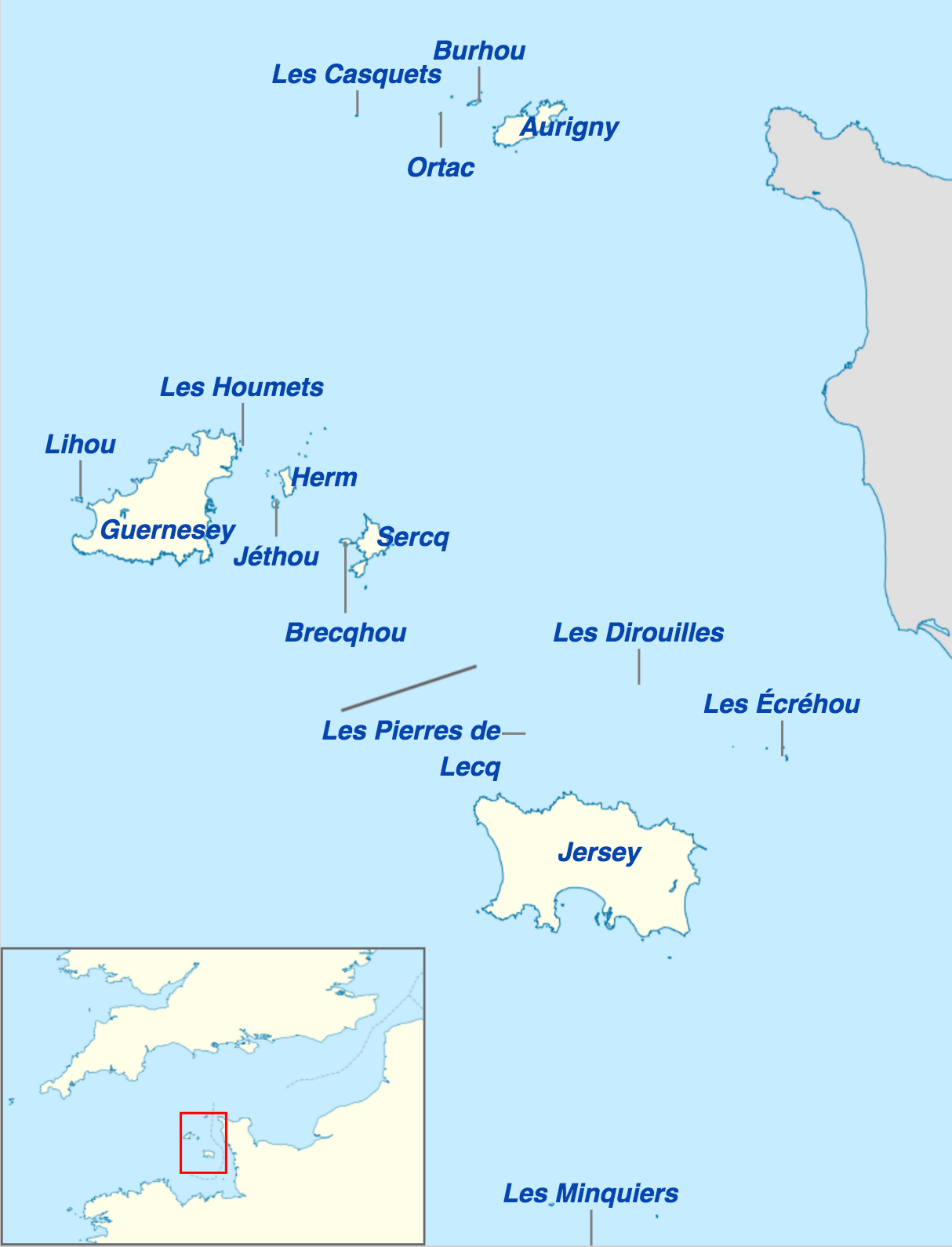 iles anglo normandes