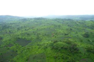 Katanga, collines verdoyantes