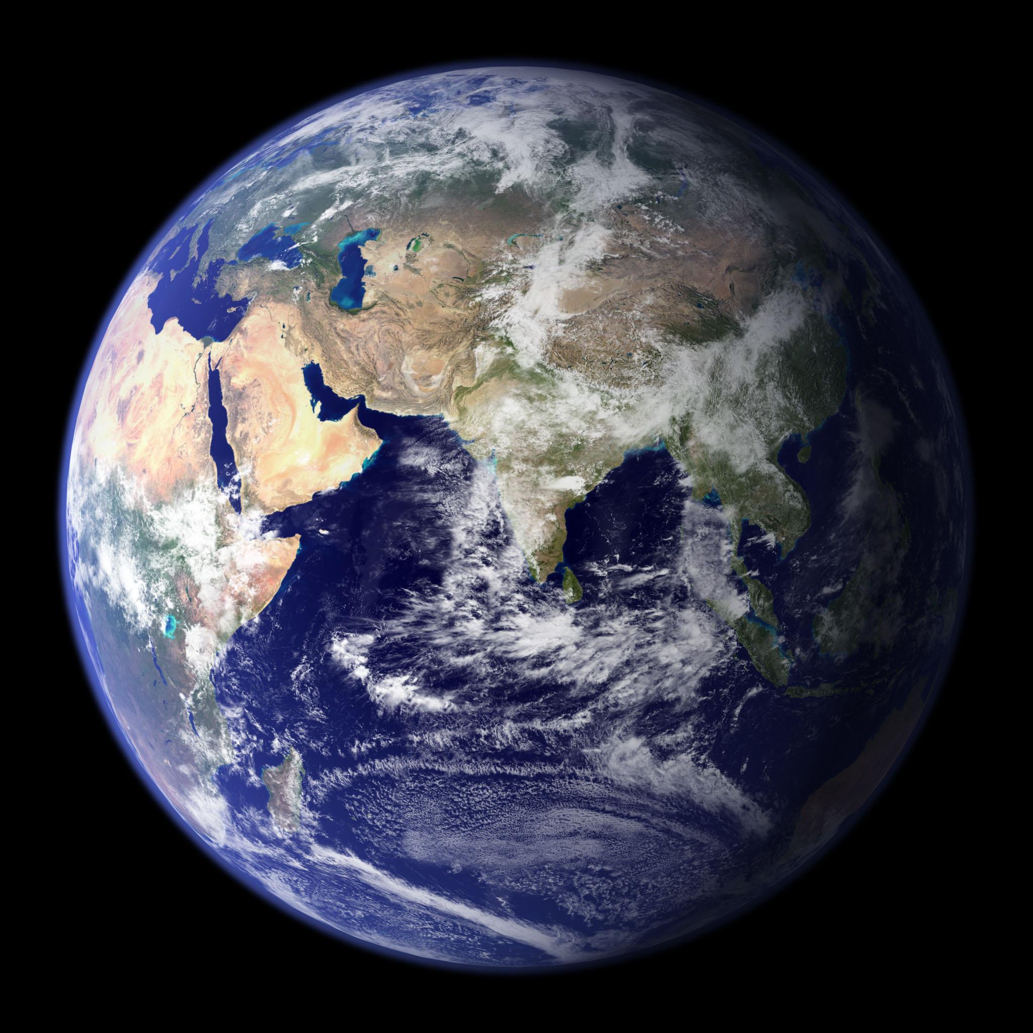 Monde Hémisphère Est