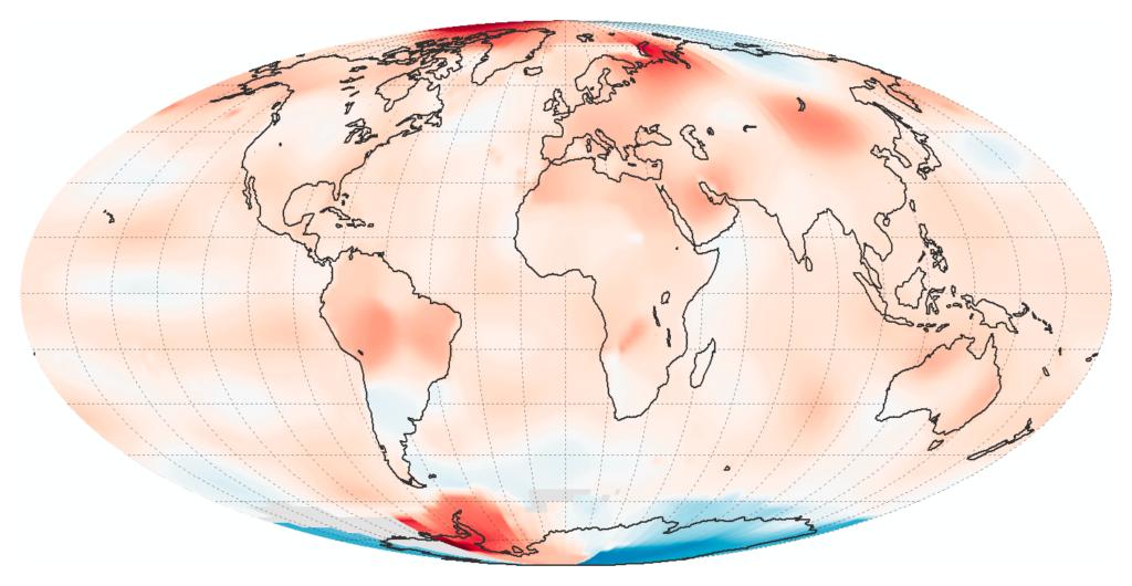 Monde - températures juillet 2016