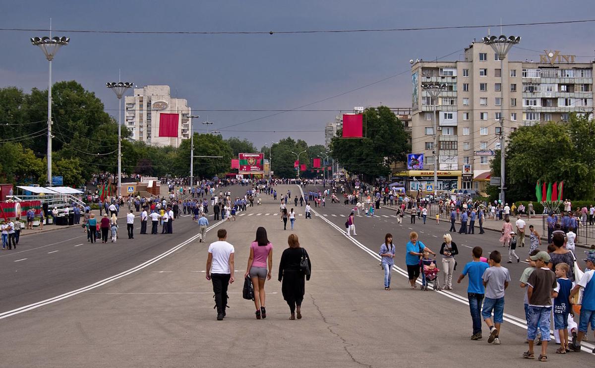 Place Souvorov, Tiraspol, Transnistrie