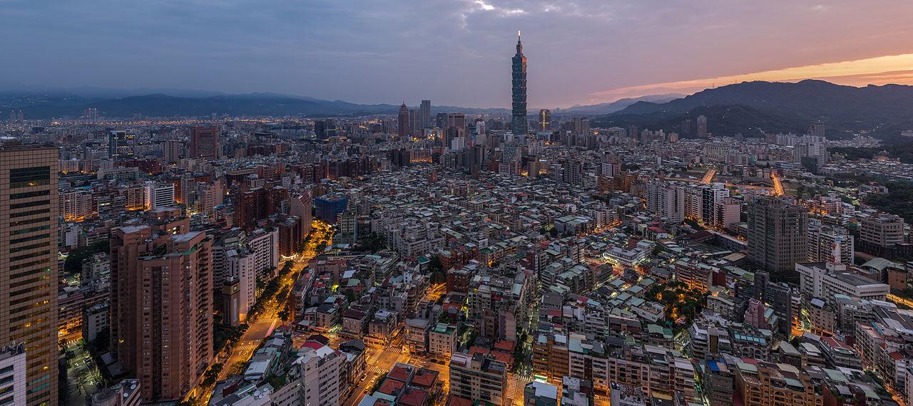 Taipei, capitale de Taïwan - panorama