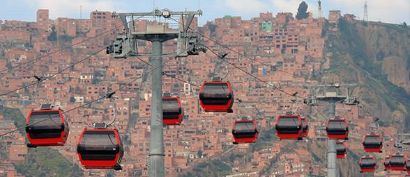 Télépherique à La Paz, Bolivie