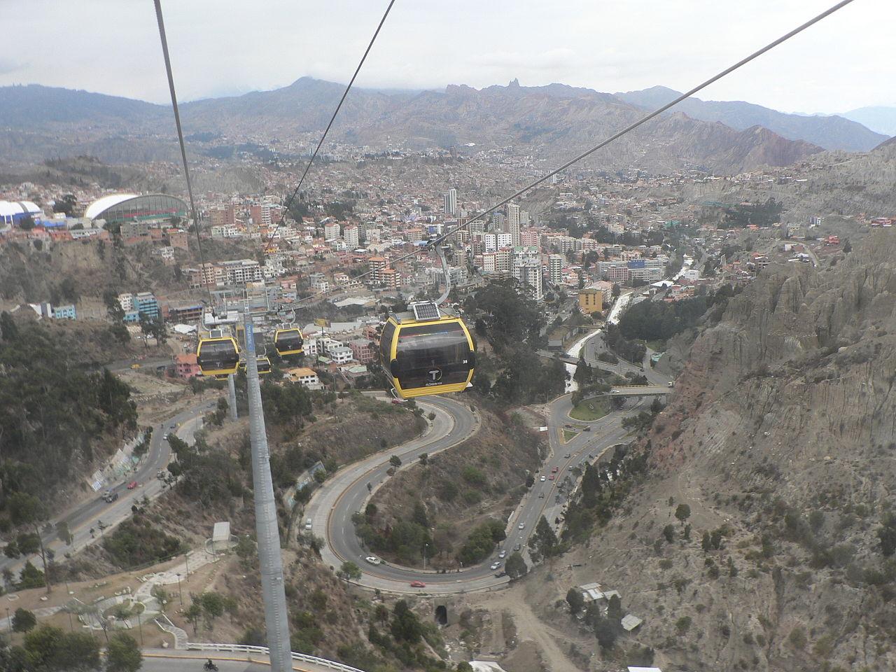 Téléphérique, ligne jaune, La Paz