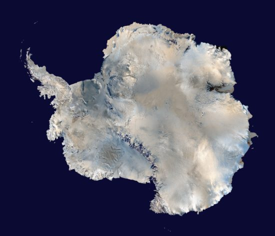 Antarctique - satellite