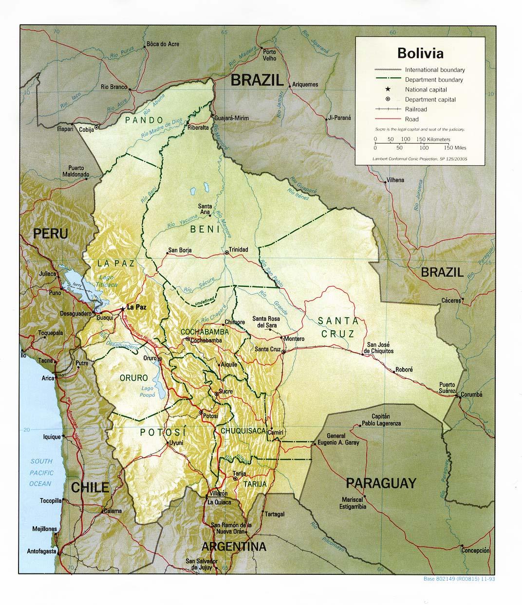 Bolivia - relief
