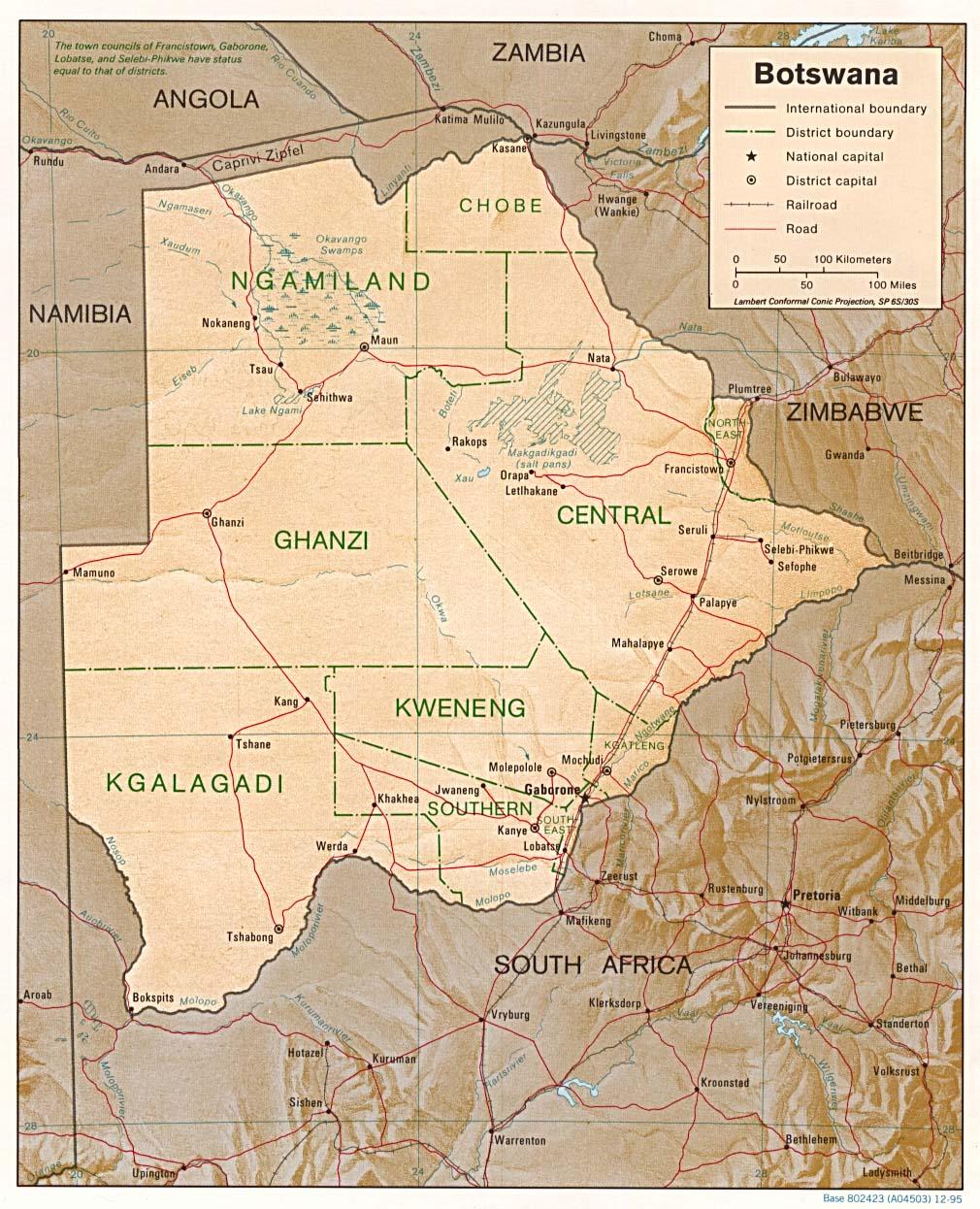 Botswana - relief