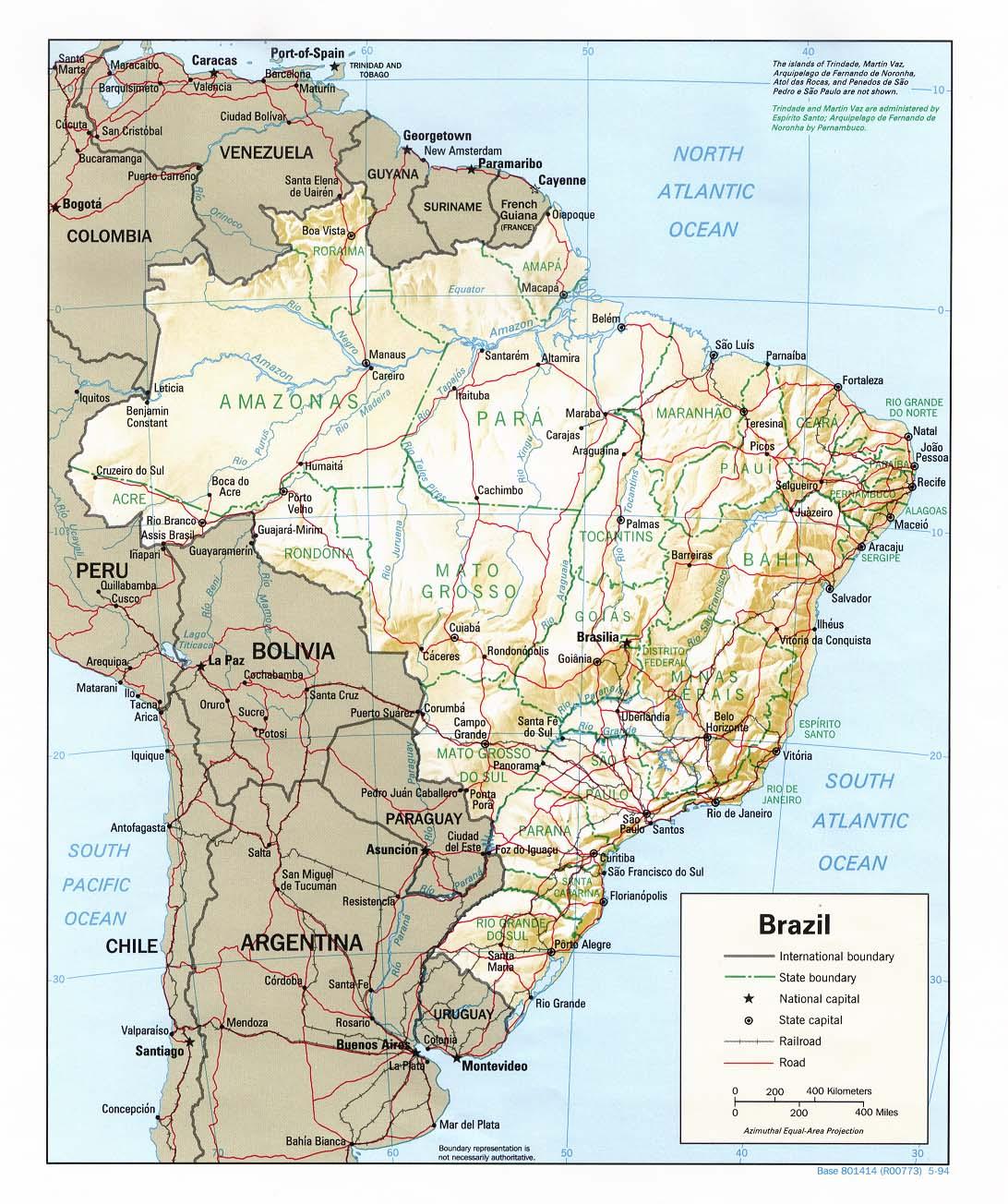 Carte Bresil Relief.Bresil Relief Carte Populationdata Net