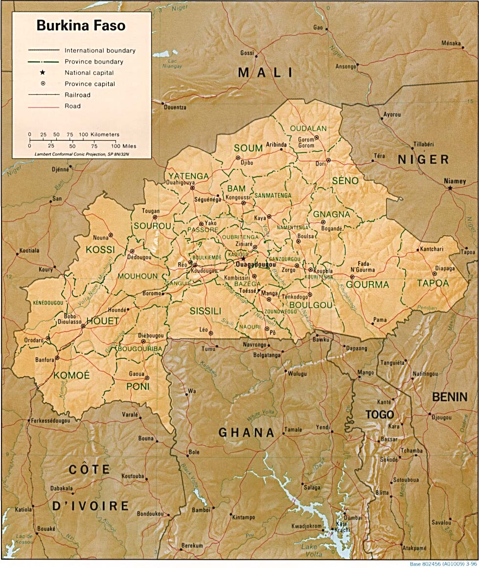 Burkina Faso - relief