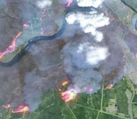 Canada : image satellite des feux à Fort McMurray