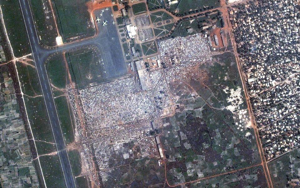 Centrafrique - aéroport de Bangui (décembre 2013)