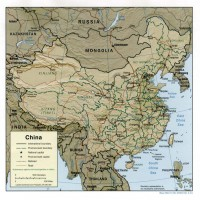 Chine – relief