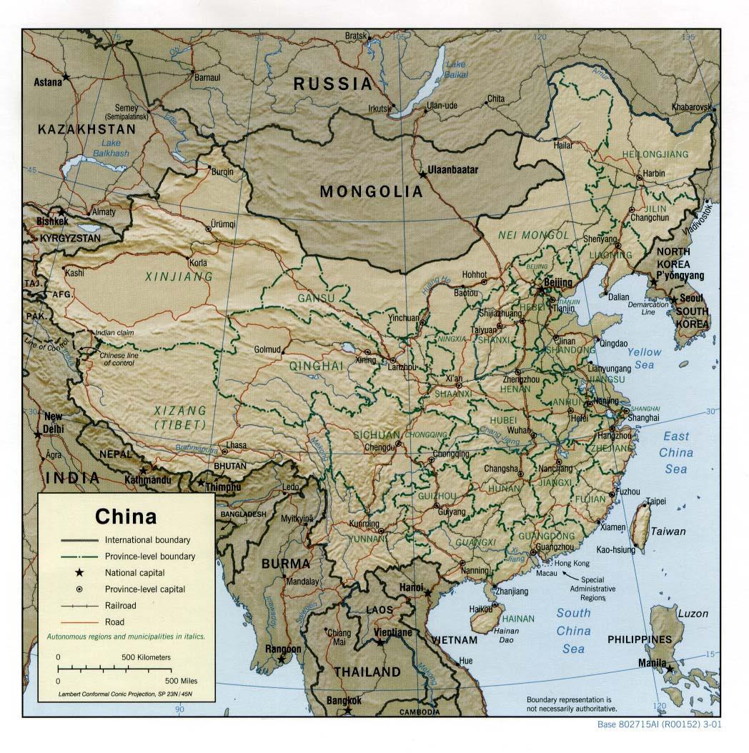 chine_relief dans LA CHINE