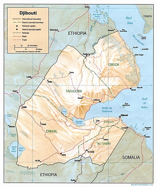 Djibouti - relief
