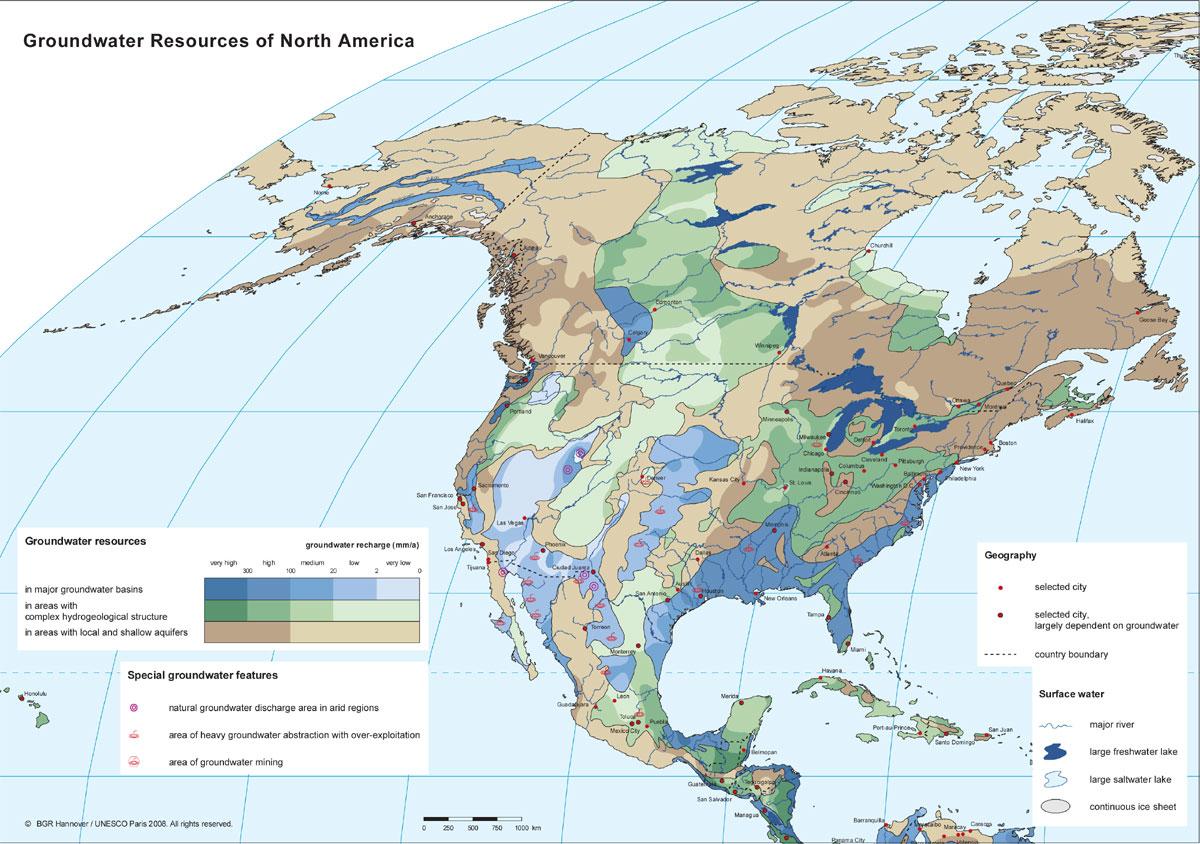 am u00e9rique du nord  u2013 eaux souterraines  u2013 populationdata net