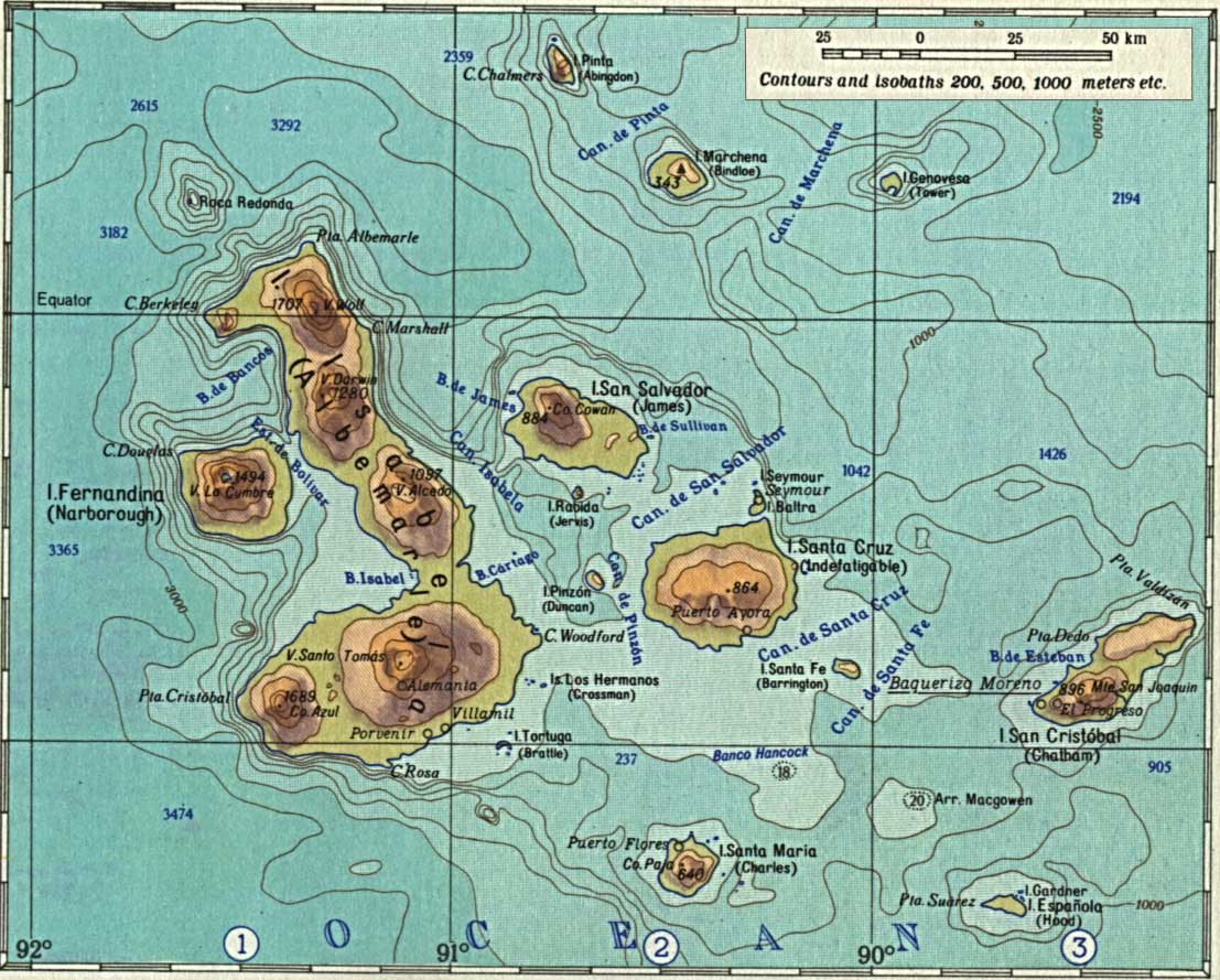 Équateur - Galapagos - relief