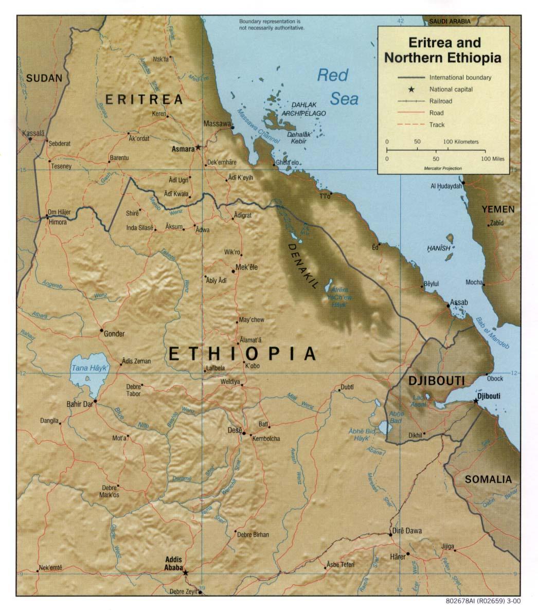 Erithrée-Ethiopie - frontiere